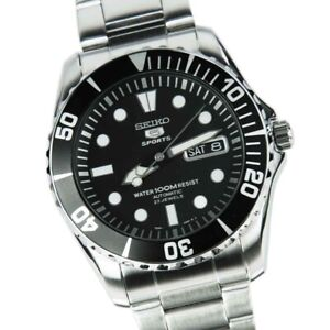 Seiko-Sea-Urchin-Black-Dial-Stainless-Steel-Automatic-Mens-Watch-SNZF17K1