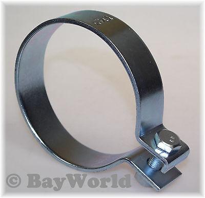 1x 104,5mm DIN Schelle Stahl verzinkt 4.10Zoll Auspuffklemme Rohrschelle PKW LKW