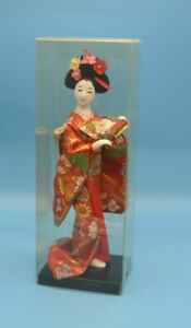 Vintage-Chinese-Geisha-Doll-in-Plastic-Display-Box-10-Inches-Very-Beautiful