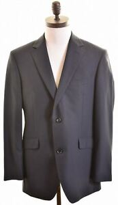 Austin Reed Mens 2 Button Blazer Jacket Size 40 Large Black Wool Lh03 Ebay