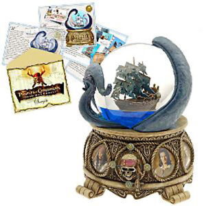 disney collectible snowglobe pirates of the caribbean with artwork