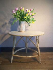 ANCIEN TABLE BASSE TRIPODE ROTIN OSIER DESIGN 50 60 VINTAGE 1950   eBay