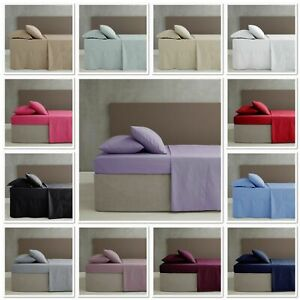 Catherine Lansfield Non Iron Percale Combed Polycotton Flat/Fitted/Valance Sheet