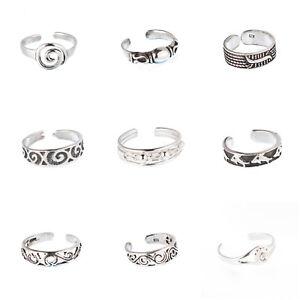 GüNstiger Verkauf Zehenring Zehenringe Fußring Fussschmuck Toe Ring 925 Sterling Silber Z718