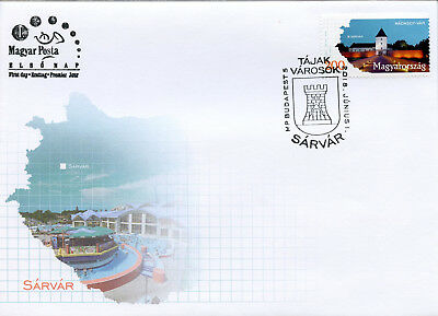 Hungary 2018 Fdc Regions & Towns Sarvar 1v Cover Tourism Architecture Stamps Quell Summer Thirst
