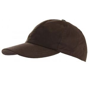 Horka Ladies Mens Cotton Wax Baseball Cap Waterpoof Horse Rider Comfort Headwear