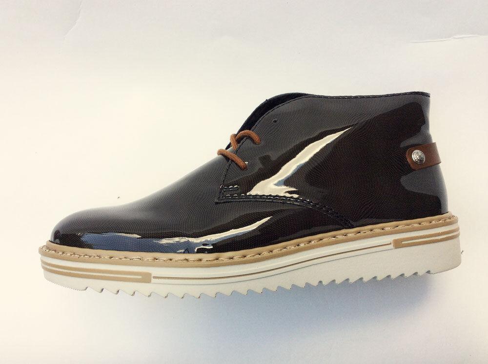 Rieker Stiefeletten Schnürstiefel Boot Stiefel Braun Oliv Damen Schuhe 181368