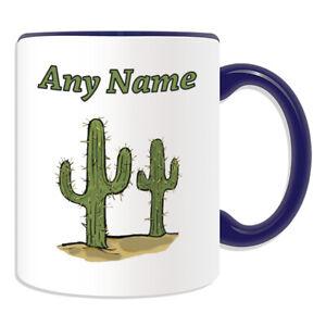Personalised Gift Cactus Saguaro Mug Cup Birthday Christmas Name Text Him Kid