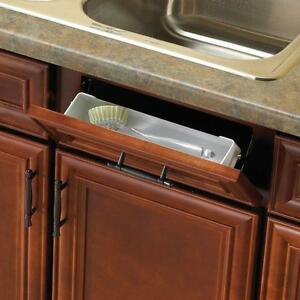 Kitchen Sink Countertop Front Tray Tip Out Hinges Cabinet