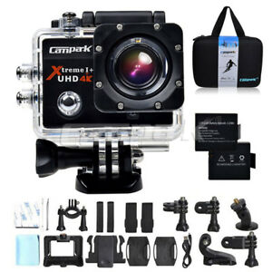 """Campark Sports Camera 4K 16MP WiFi FHD 2.0"""" LCD Underwater 170° Action Camcorder 7793351142712"""