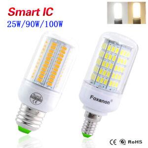 E27 E14 B22 LED Light Corn Bulb 5730 SMD Smart IC Power Cool Warm White Lamp