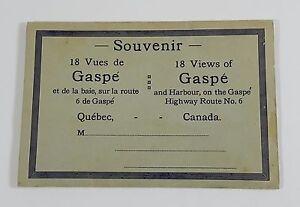Gaspe-Quebec-Canada-Harbour-Highway-Route-No-6-18-Views-Foldout-Souvenir