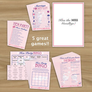 Image Is Loading Hen Night Party 5 Multi Pack 10
