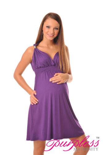 New Maternity Summer Party Sun Dress Pregnancy Tunic Size 8 10 12 14 16 18 8423