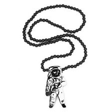 New Hip-hop fashion good quality wood nyc Necklace Astronaut Pendant