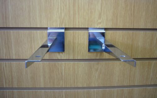 SLATWALL legname staffa dello scaffale cromato 300mm venduti in coppia