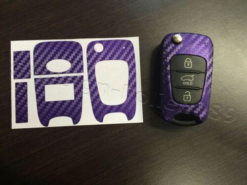 Carbon  Lila Folie Schlüssel Hyundai z.B. i10 i20 i30 ix35 ix20 Elantra