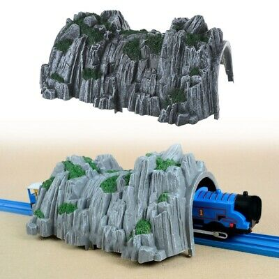 Plastic Double Tunnel Wooden Train Track Toy Accessories For Tunnel Track Train