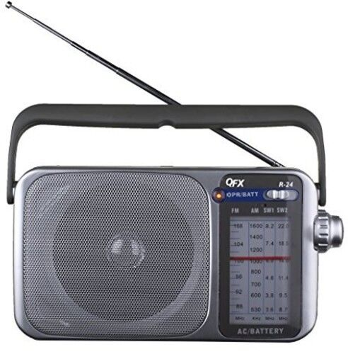 QFX R24 Portable AM FM SW1 SW2 Radio Silver New Misc Silver