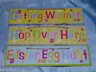EASTER EGG HUNT SIGNS EASTER MEDALS BINGO FUN GAMES ACTIVITY PARTY EGGS CHICKS