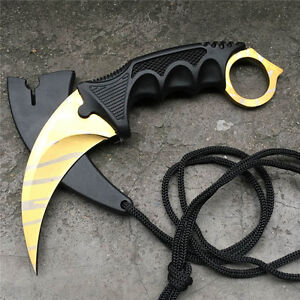 csgo knife fade karambit cs go tooth doppler counter strike claw fixed knives ebay. Black Bedroom Furniture Sets. Home Design Ideas