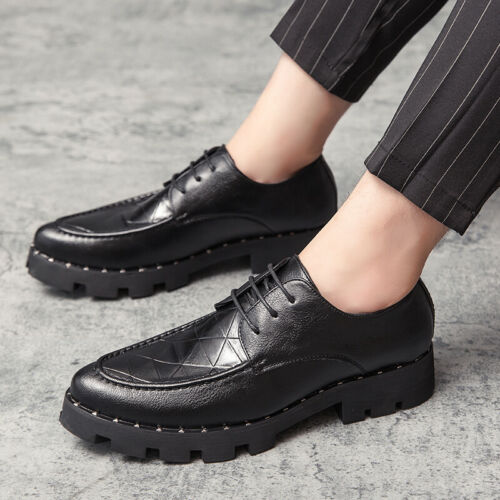 Details about  /Mens Pointy Toe Oxfords Flat Lace up Party British Dress Formal Business Shoes L