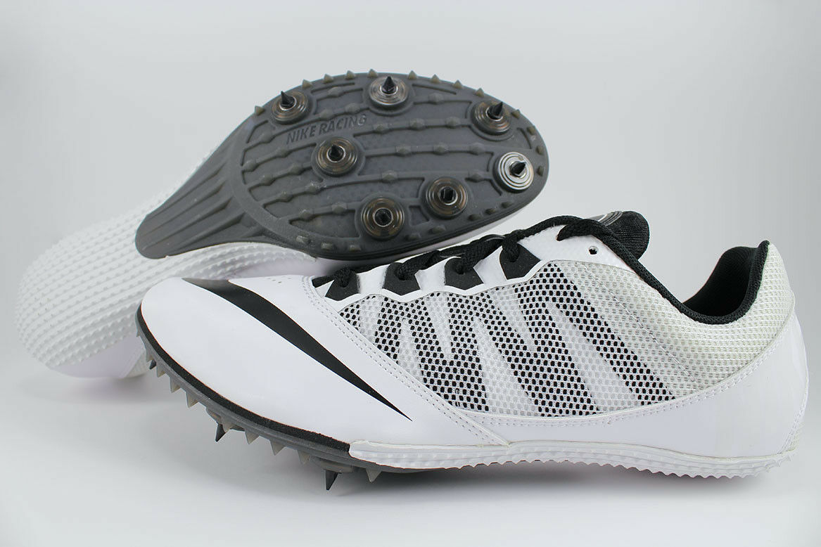 NIKE ZOOM RIVAL S 7 WHITE/BLACK TRACK & FIELD SPIKES SPRINTS RUNNING US MEN SIZE