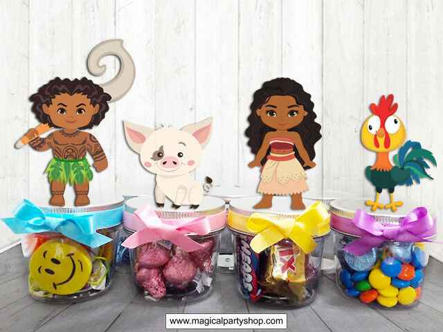 Moana Party Favors Candy Containers  Moana Birthday Party Favors