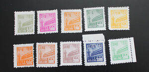 North-East-China-1950-RN1-1st-Regular-Issue-of-Tian-An-Men-Full-set-MNH-VF