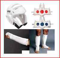 Taekwondo Sparring Gear Set Cloth Package Head Forearm Shin Instep Chest Tkd