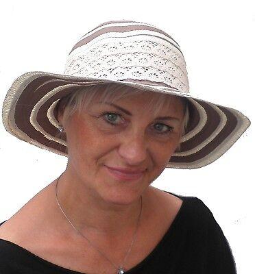 Damen Hut Mütze Kofferhut Reisehut Sonnenhut Sonnenschutz faltbar Urlaub Garten