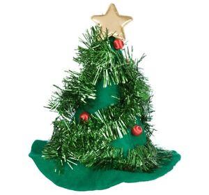 7171f78c3b4 NOVELTY CHRISTMAS TREE HAT XMAS FANCY DRESS SANTA HAT ELF NOVELTY ...