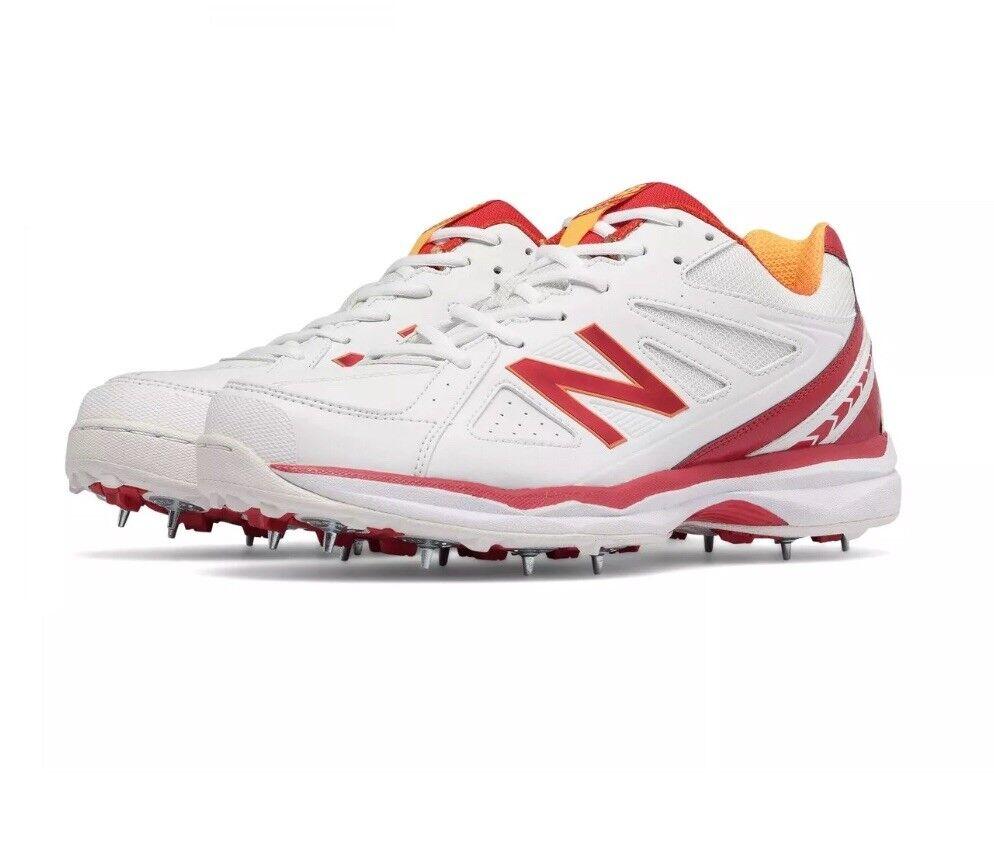Balance Men's 4030C2 Cricket shoes, White White, UK 8