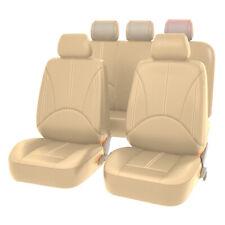 Full Set Beige Pu Leather Car Seat Covers Protector Universal 5 Sits Suv Cushion Fits 2009 Hyundai Santa Fe
