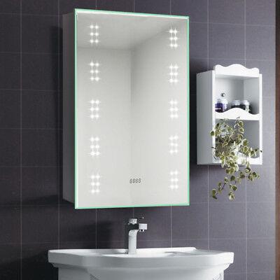 White Led Demister Illuminated Bathroom