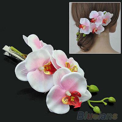 Graceful Lady Womens Hair Flower Clip Bridal Hawaii Party Hair Accessories B54U