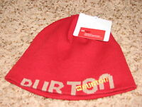 With Tags Mens One Size Red/gray Burton Sierratahoe Knit Beanie