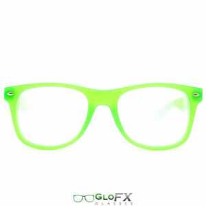 Glofx Ultimate Diffraction Glasses Glow In The Dark Green Frame