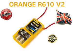 New-orangerx-R610-V2-DSM2-6CH-Recepteur-2-4GHz-avec-protections-pour-Spektrum-R615X