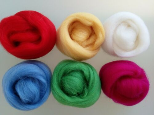 60 or 90 g Spring sets* Pure Merino Wool for Needle and Wet Felting packs of 30