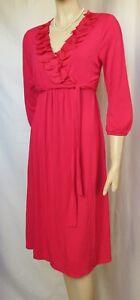 Jerseykleid-Boden-36-38-UK-10-rosa-pink-Rueschen-Hochzeit-Cocktail-Sommer