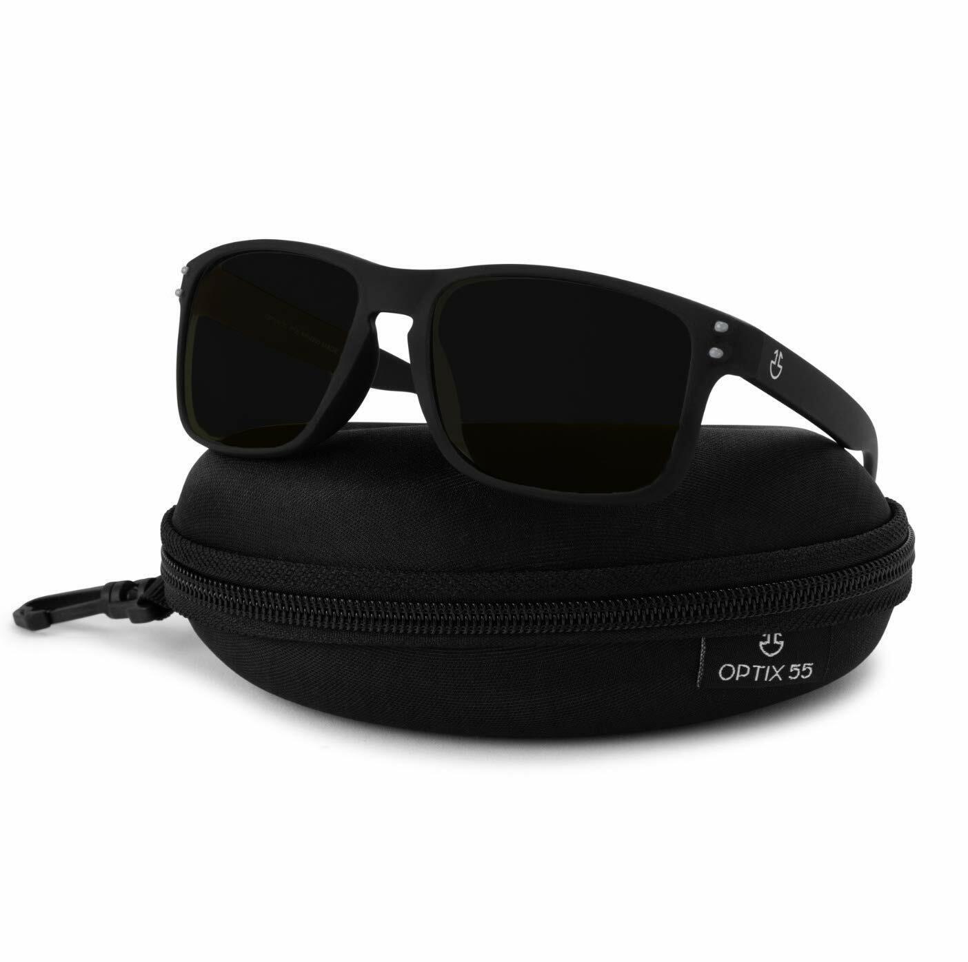 Optix 55 Polarized Glasses for Men /& Women Night Black //Night Vision