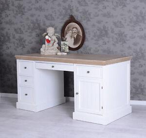 Schreibtisch weiß vintage  Scrivania Shabby Chic Tavolo per computer bianco scrittura mobili ...