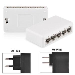 RJ45 Ethernet Internet Splitter Hub Network Switch Computer 5 Ports 10/100Mbps G 8760701853481