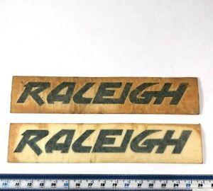 X2-Genuine-NOS-Raleigh-Bicycle-Factory-Decal-Sticker-Burner-BMX-VINTAGE