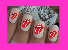 Nail Art Decals Rolling Stones Transfers Stickers Wraps Foils Manicure X 40