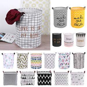 Foldable Waterproof Washing Clothes Laundry Basket Sorter Bag Hamper Storage Bag