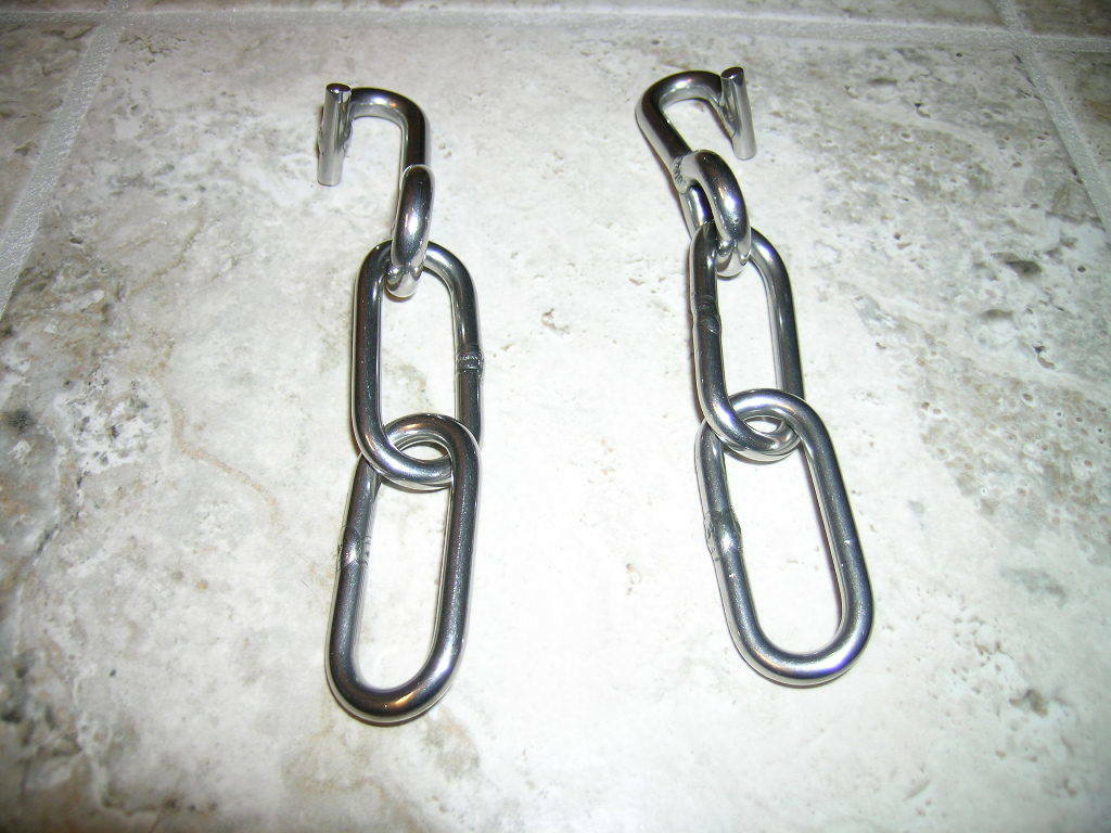 SLOT END TRACE TO CHAIN CONgreenERS, ALL STAINLESS STEEL