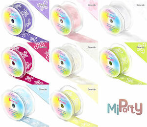Eleganza-Butterfly-Pattern-Ribbon-Wired-Edge-8-Colours-1m-x-38mm