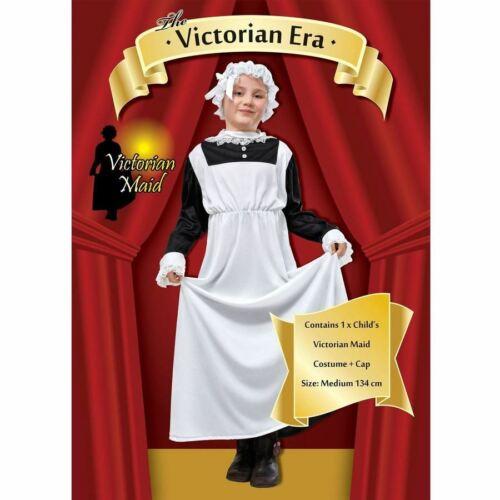 Garçons Filles Époque Victorienne Costume Maid Servante Kids Enfant École Déguisement Livre